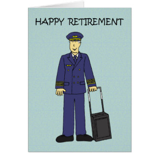 Happy Retirement Pilot Card