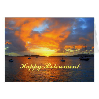 Happy Retirement Sailboats at Golden Sunset Card