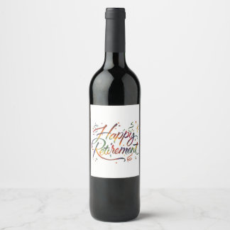 Happy Retirement Wine Label