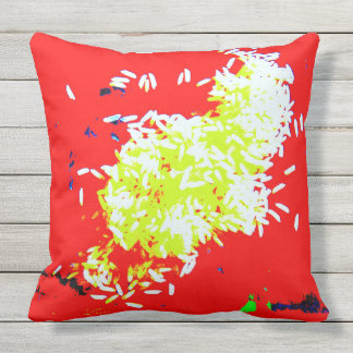 Happy Rice Outdoor Pillow