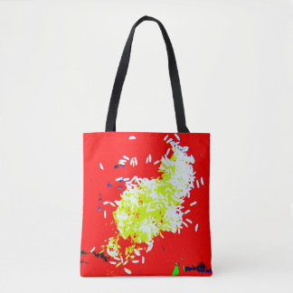 Happy Rice Red Market Tote
