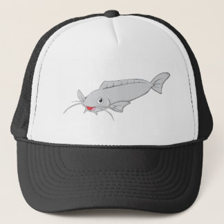 Happy River Catfish Cartoon Trucker Hat