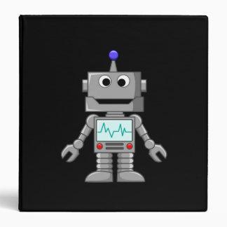 Happy Robot 3 Ring Binders