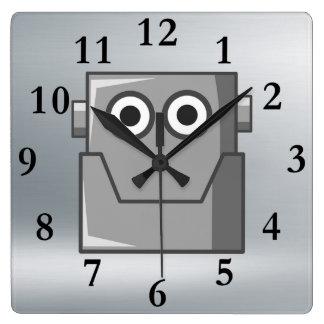 HAPPY ROBOT HEAD CLOCK