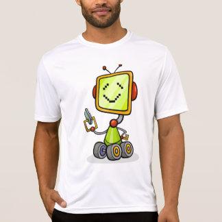 Happy Robot On Wheels Mens Active Tee