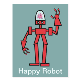 Happy Robot Post Card
