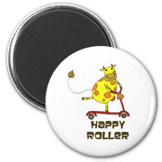 Happy Roller 2 Inch Round Magnet