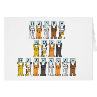 Happy Roshanah Cats Card