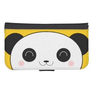 Happy Rosy Cheeked Kawaii Panda Face Phone Wallet Case
