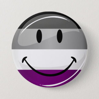 Happy Round Asexual Flag 3 Inch Round Button