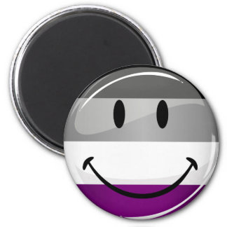 Happy Round Asexual Flag Magnet