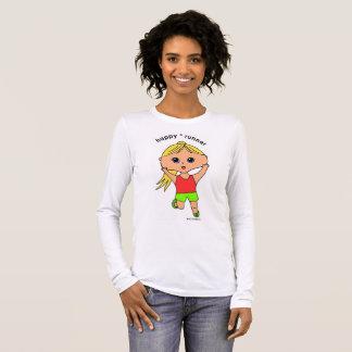 Happy runner women's long sleeve t-shirt #2