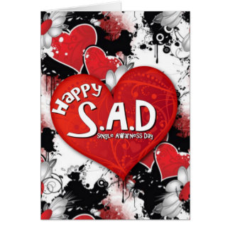 Happy S.A.D. Goth. Card
