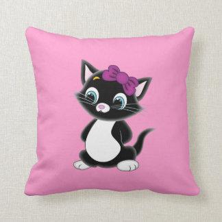 Happy Sad Kitten Pillow