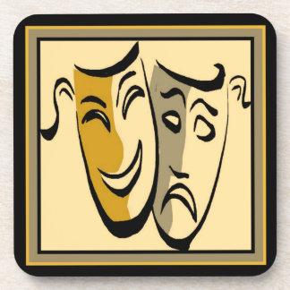 Happy/Sad Theater Mask Coaster Set (6)