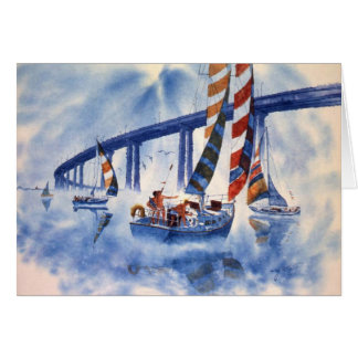 HAPPY SAILING AT SAN DIEGO BAY CARD