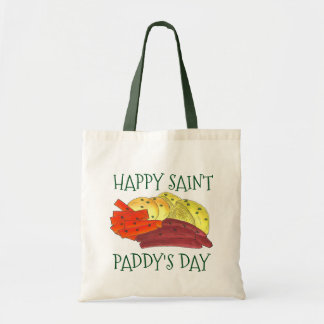 Happy Saint Paddy's Day Corned Beef Cabbage Tote