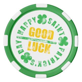 Happy Saint Patricks Day Good Luck Poker Chips Set