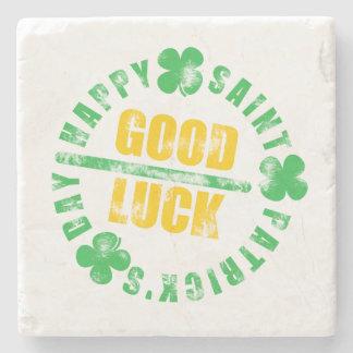 Happy Saint Patricks Day Good Luck Stone Beverage Coaster