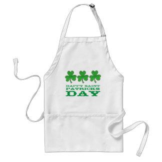 Happy Saint Patrick's Day Green Shamrock Apron