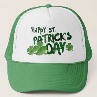Happy Saint Patrick's Day Green Trucker Hat