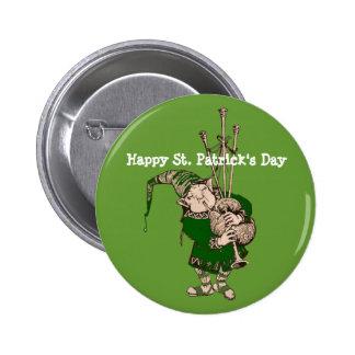 Happy Saint Patricks Day Leprechaun Button