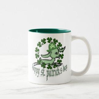 Happy Saint Patrick's Day Two-Tone Coffee Mug
