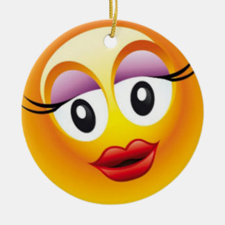 Happy Sally Joy Ceramic Ornament
