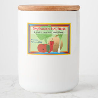 Happy Salsa Personalized Food Label