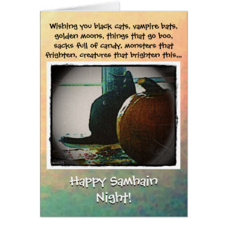 Happy Samhain Autumn's Greatest Treats Card