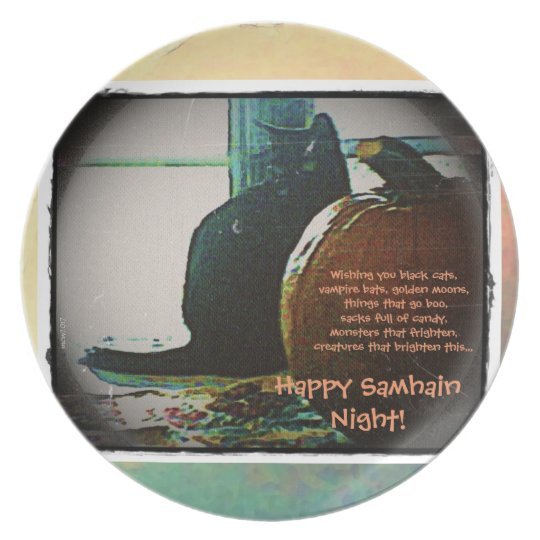 Happy Samhain Autumn's Greatest Treats Plate