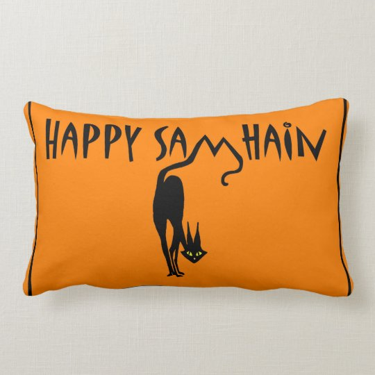 Happy Samhain Throw Pillow