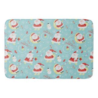 Happy Santa And Frosty Bath Mat
