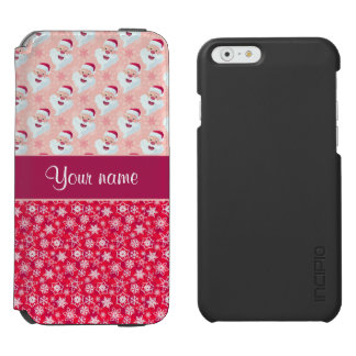 Happy Santa and Snowflakes Personalized Incipio Watson™ iPhone 6 Wallet Case