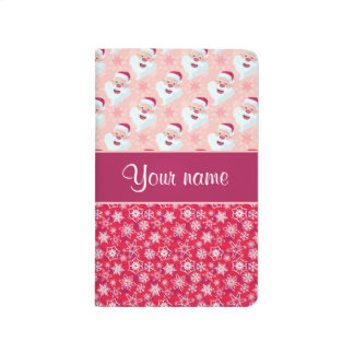 Happy Santa and Snowflakes Personalized Journal