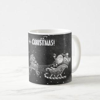 Happy Santa Christmas Mug! (black&White) Coffee Mug