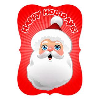 "Happy Santa Claus 5"" X 7"" Invitation Card"
