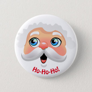 Happy Santa Claus Cartoon 2 Inch Round Button
