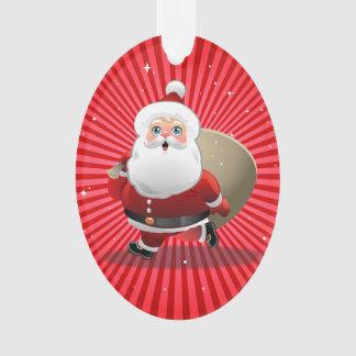 Happy Santa Claus Ornament