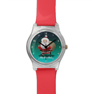 Happy Santa Claus With A Sack Full Of Gifts Watch