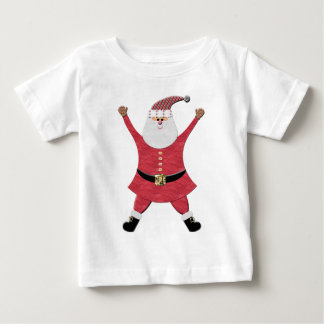 Happy Santa Jumping for Joy Baby T-Shirt