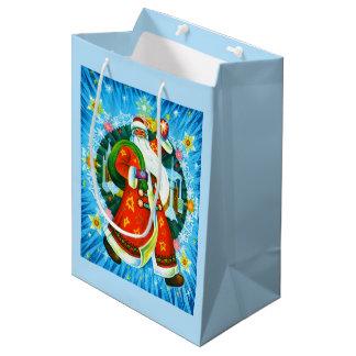 Happy Santa Medium Gift Bag