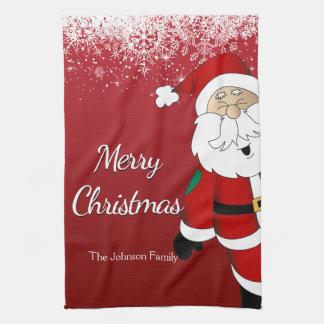 Happy Santa Merry Christmas Kitchen Towel