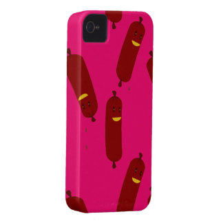 happy sausages iPhone 4 cover