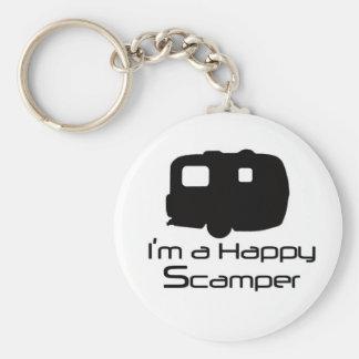 Happy Scamper Fun Stuff! Basic Round Button Keychain