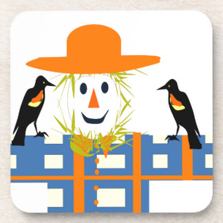 Happy Scarecrow Coaster