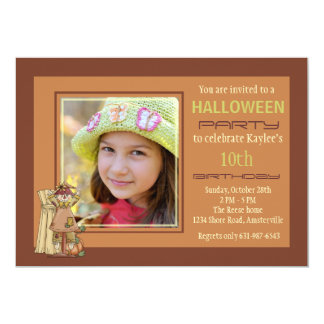 Happy Scarecrow Photo Invitation