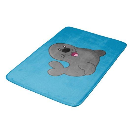 Happy seal bathroom mat