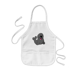 Happy seal kids apron