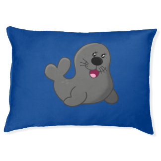 Happy seal large dog bed